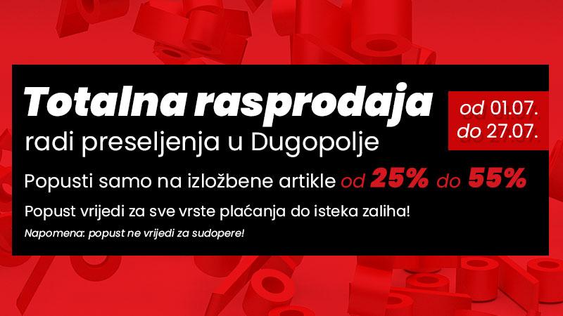 Totalna rasprodaja radi preseljenja u Dugopolje